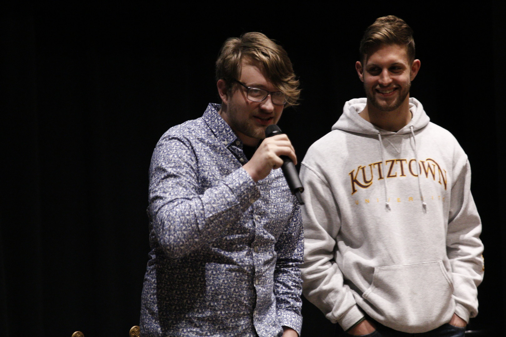 CTM student and KUFF participant Cole Reece answers questions