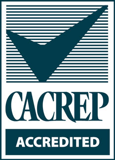 """CACREP Accredited"" logo"
