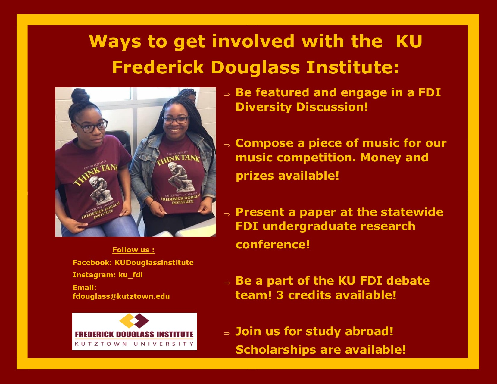 Get involved with the KU Frederick Douglass Institute