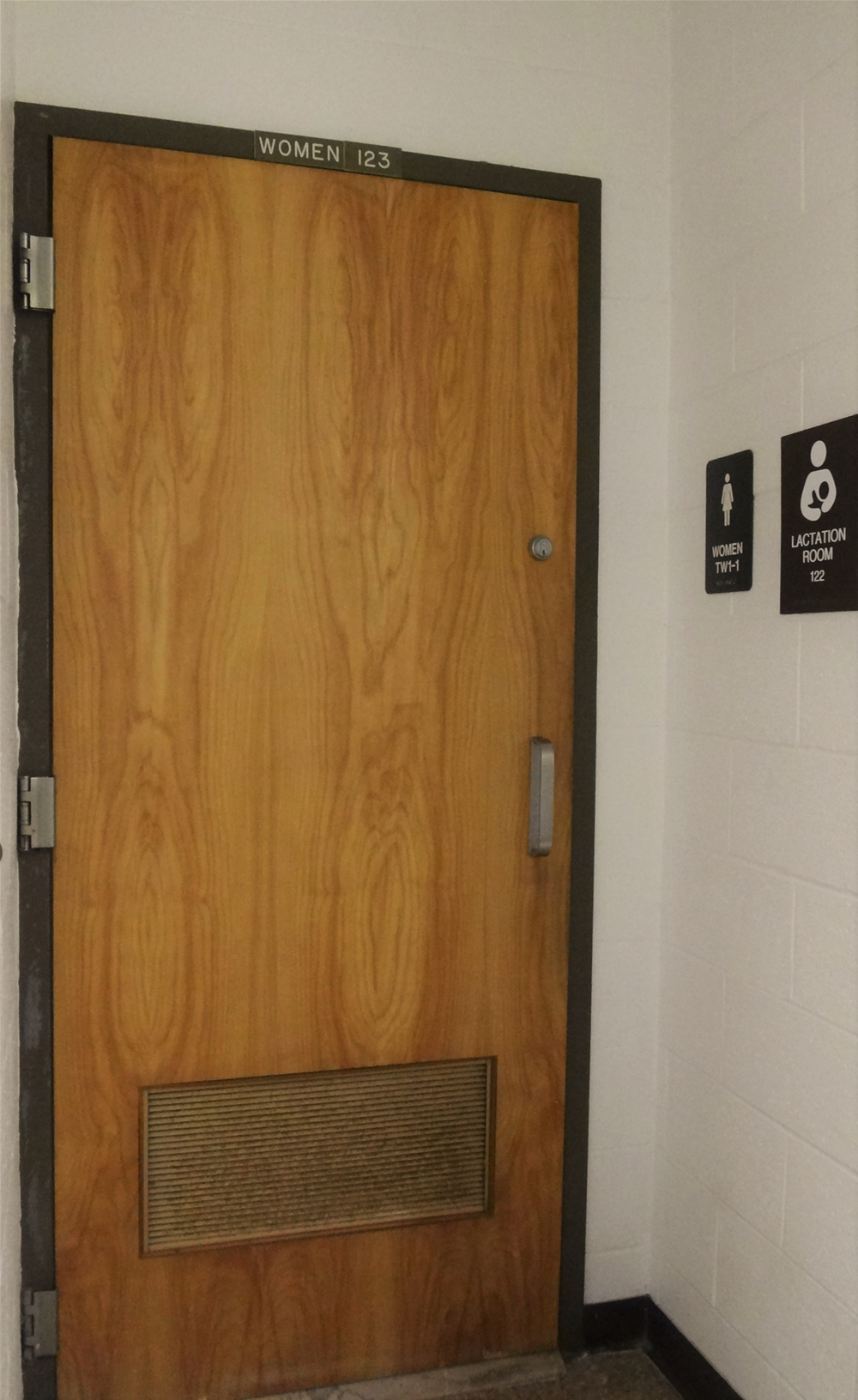 Lytle Hall Lactation Room Main Entrance