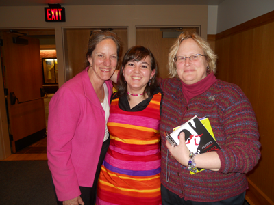 Stroudsburg area library professionals gather for ABA Banquet to wish former student  senior, Laura Emert, (center) well.