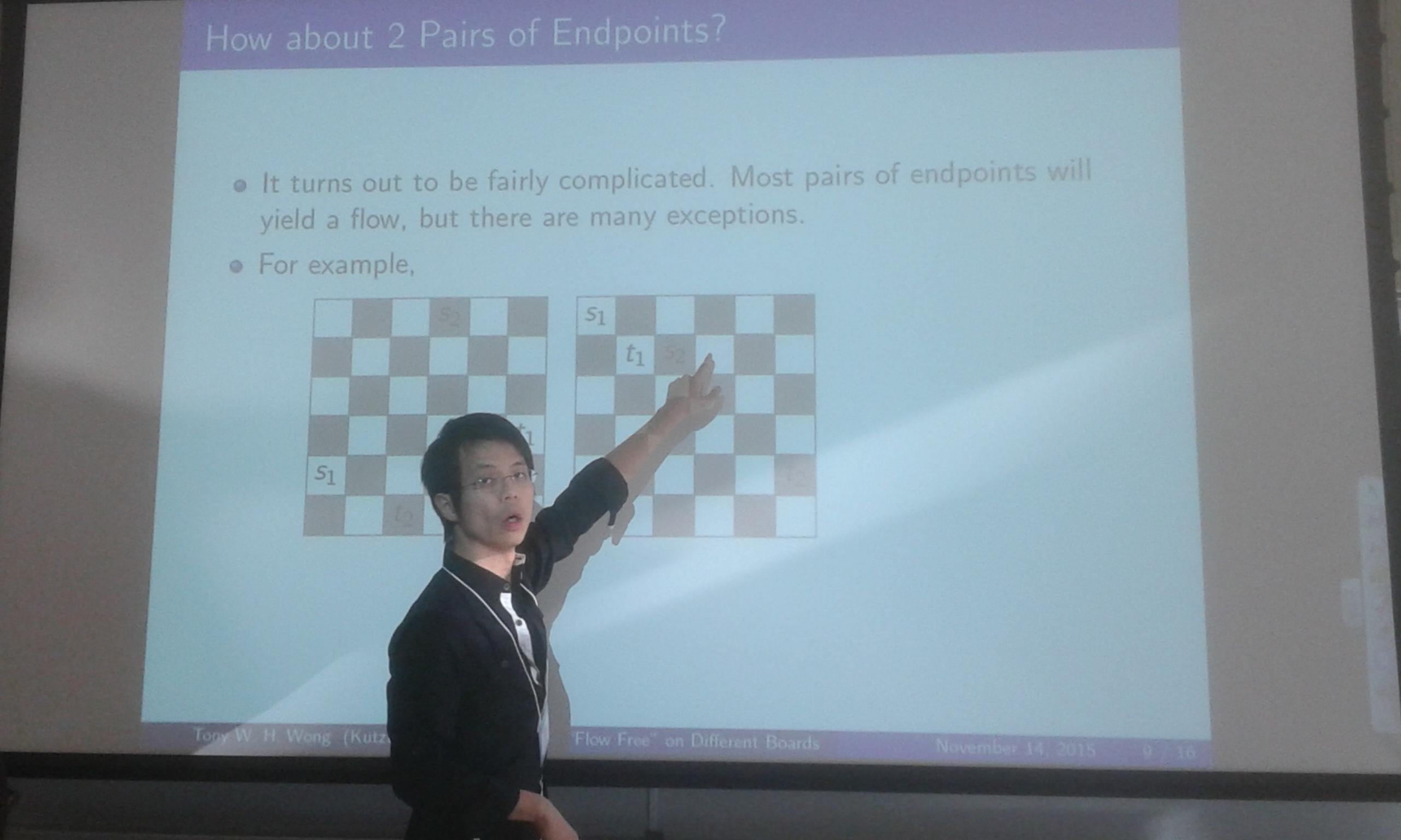 Dr. Wong presenting at a conference