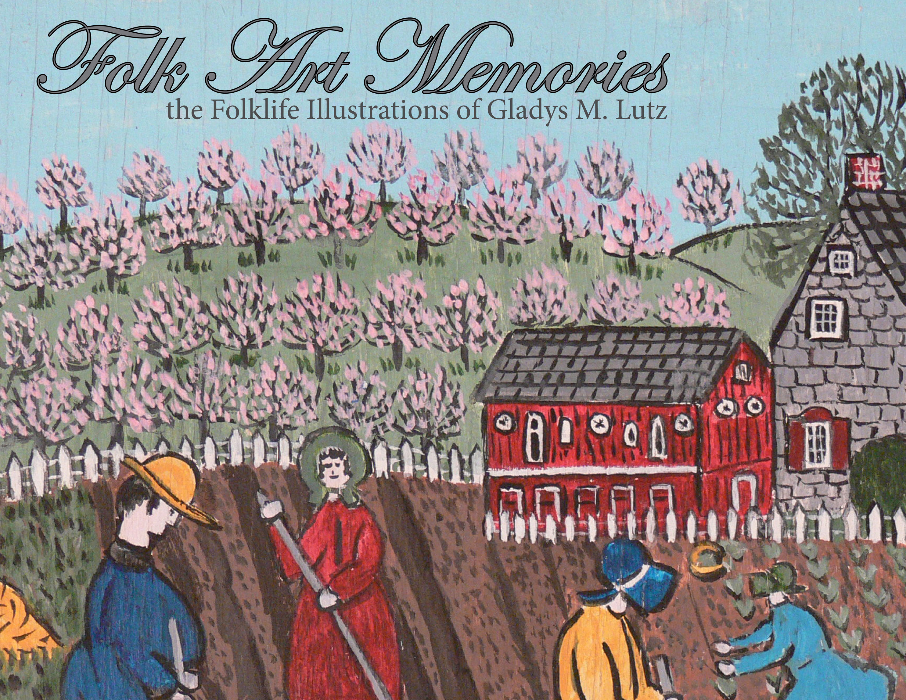 Front Cover: A primatively drawn farmscape with people planting in a field. The title of the book is in the top left-hand corner.