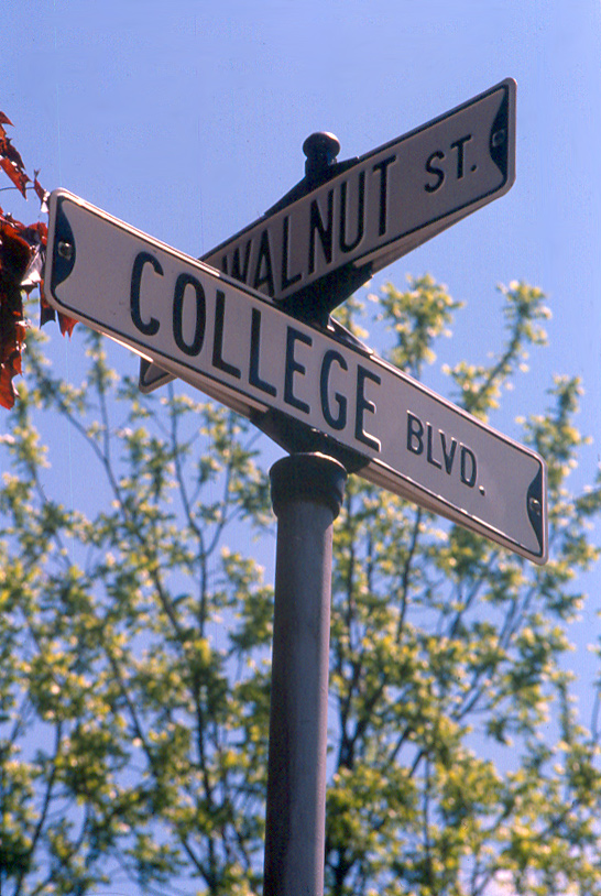 College Boulevard street sign