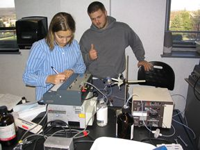 Students get their HPLC working