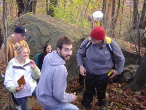 Students in the field.