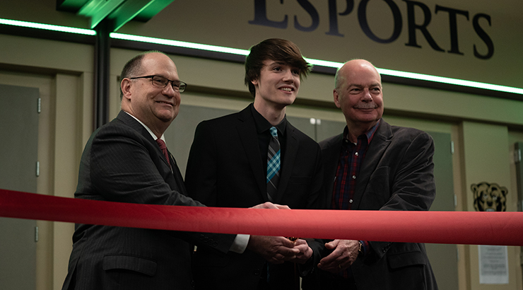 Esports Arena ribbon cutting