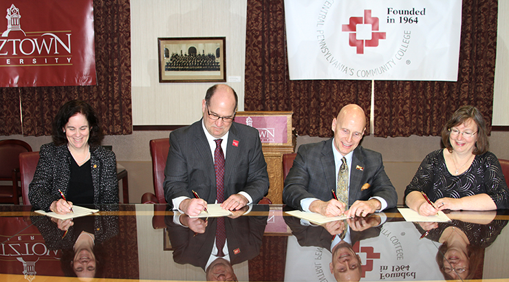 Organizational Representatives signing transfer agreement
