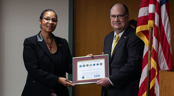 President Hawkinson, KU Bestowed Seven Seals Employer Award