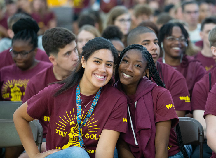Image from Fall Freshman Convocation