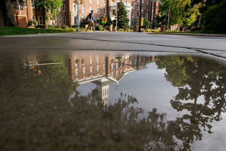 Reflection of Old Main