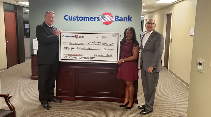 Customers Bank recently donated $55,000 to KUSBDC to support resources for minority small businesses in Reading.