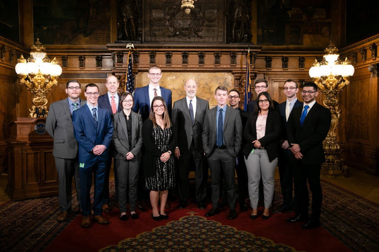 Kutztown University Senior Meets with Governor Wolf