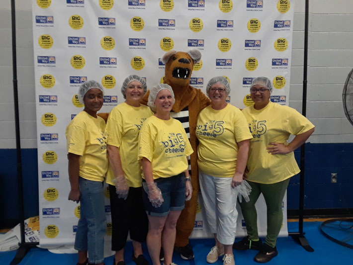 MEMBERS OF AFSCME LOCAL 2234 PARTICIPATE IN THE BIG CHEESE 5, SATURDAY, JUNE 15.
