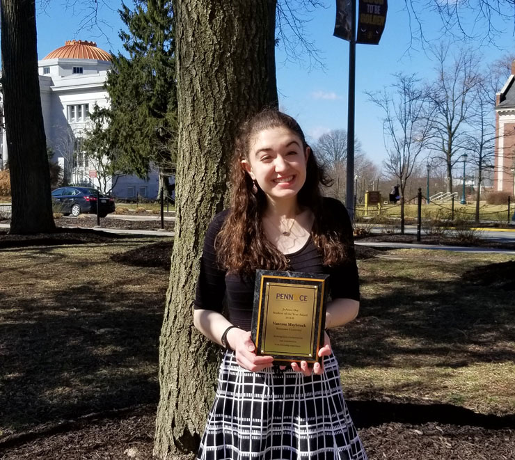 Vanessa Maybruck, recipient of the 2019-2020 PennACE JoAnne Day Student of the Year Award for STEM