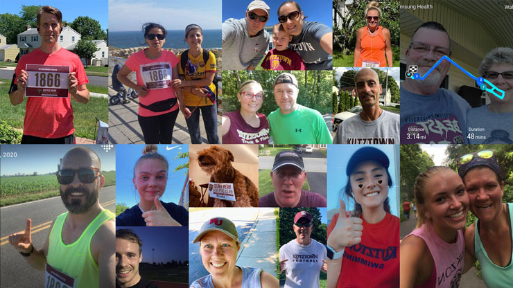 Collage of pictures of some participants of the Golden Bear Athletic Club Virtual 5K.