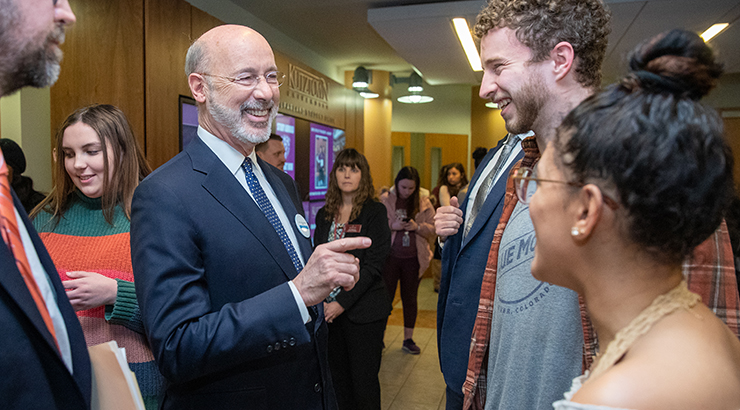 Governor Wolf with students