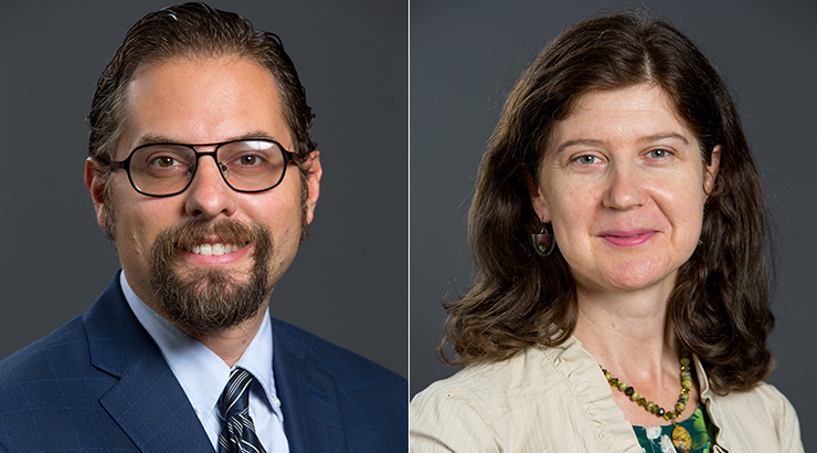 Dr. Mark Wolfmeyer (left) and Dr. Amy Pfeiler-Wunder (right)