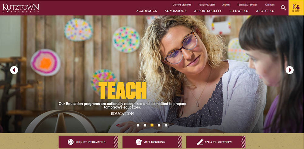 New university website