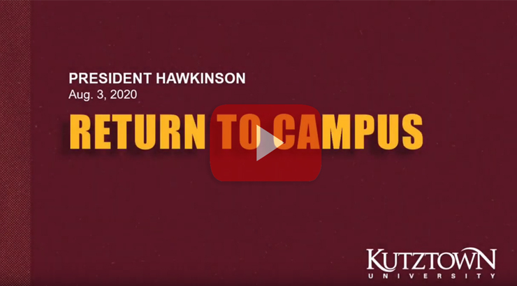 Reopening Kutztown University in Fall 2020