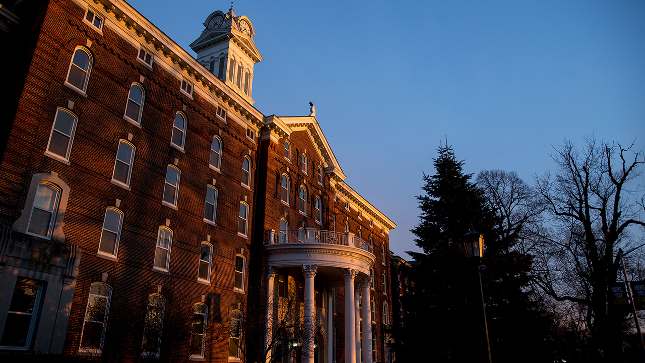 old main during sunset